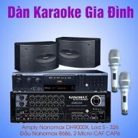 Dàn karaoke gia đình giá rẻ Nanomax 02