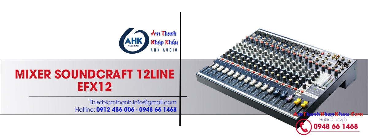 mixer soundcraft efx12 chinh hang gia re nhat chinh hang