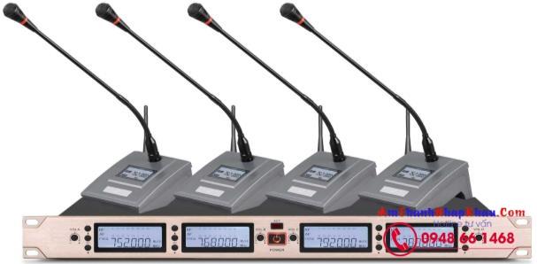 Micro phòng họp hội nghị không dây OBT U4490 - 4 mic để bàn, hiệu quả nhất