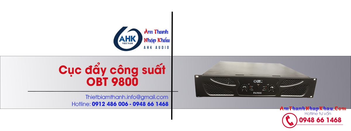 cuc day cong suat amply obt 9800 chinh hang